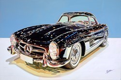 1954 Mercedes-Benz 300 SL Roadster by Roz Wilson -  sized 36x24 inches. Available from Whitewall Galleries